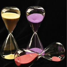 New 1pc Colorful sand glass sandglass hourglass timer 5/10/30/60minutes