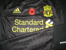 Liverpool ADIDAS 2010-11 Poppy Remembrance EPL Away Techfit Player-issue Shirt