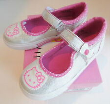 NEW Hello Kitty Keds Mary Jane Sneakers Silver Sparkle Toddler Sizes 5 5.5 7.5