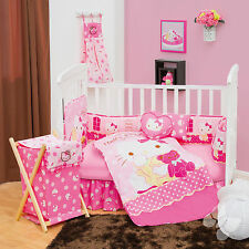 NEW  HELLO KITTY CANDY PINK BABY CRIB BEDDING NURSERY SET 5 PC