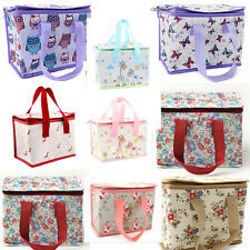 Owls Cupcake Butterfly Insulated School Lunch Bag Cool Picnic Bag Shabby Chic