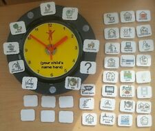 AUTISM VISUAL TIMETABLE CLOCK -lets your child know what  is happening & when
