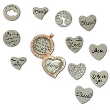 Stainless Steel Plate Best Wishes for Glass Living Memory Floating Locket Charms