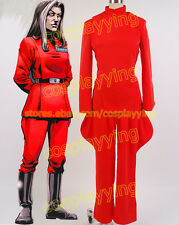 Star Wars Imperial Officer Ysanne Isard Cosplay Costume Outfit Suit Red Uniform