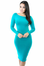 Midi Bodycon Stretch Dress Casual Cocktail Party Popular Fashion giti online