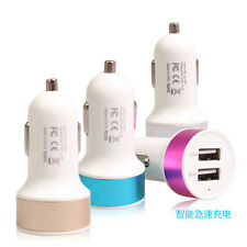 Hot Mini Car Charger Adaptor Bullet Dual USB 2-Port For iPod iPhone Samsung 3.1A