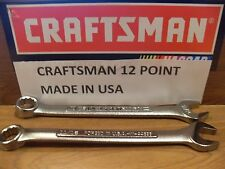 NEW CRAFTSMAN 12 PT POINT SAE OR METRIC COMBINATION WRENCH CHOOSE SIZE USA MADE
