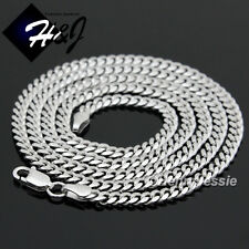 """20""""24""""30""""MEN WOMEN 925 STERLING SILVER 2MM/3MM CUBAN CURB LINK CHAIN NECKLACE*SN"""