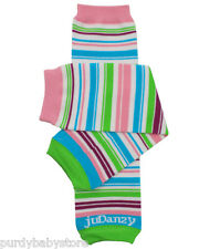 Organic Playful Stripe Leg Warmers Newborn Infant and Baby Toddler Sizes Girl