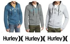 HURLEY Austin Herringbone Sherpa Zip-Up Hooded Sweatshirt Hoodie RRP $119.00