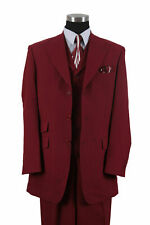 "Men's 3 Pc Poly- Poplin  Fashion 3 Button Suit Two Side Vents Length 35""  M905-V"