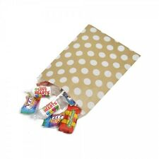 """Pink or Gold Polka Dot Design Sweet / Gift / Party Paper Bags - 5"""" x 7"""""""