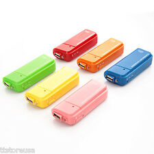 USB External Emergency Battery Charger 2*AA Flashlight for iPhone iPod MP4 3 etc