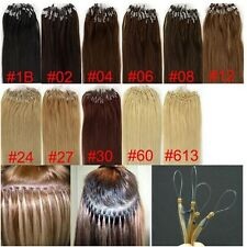 AAA+micro easy loop ring bead Tipped remy human hair extensions 100S full head