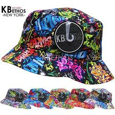 GRAFFITI Bucket Hat Boonie Hunting Fishing Outdoor Cap Unisex 100% Cotton NEW