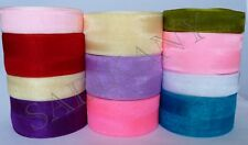 Sheer Organza  Ribbon 1'W (25 mm) 25 cm  50 yards/roll good quality many colors