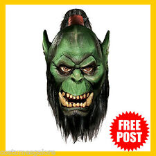 Adult Fancy Dress Costume RD 68217 Licensed ORC World of Warcraft DLX Latex Mask