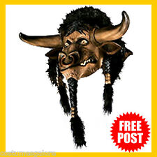 Adult Fancy Dress Costume RD Licensed TAUREN World of Warcraft DLX Latex Mask