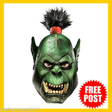 Adult Fancy Dress Costume RD 68205 Licensed ORC World of Warcraft DLX Latex Mask