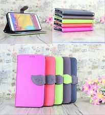 New Luxury Fashion Leather Card Flip Wallet Case Stand Cover Pouch For Samsung