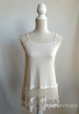 PB Ivory Lace TOP/SHIRT Extender-Cotton Elastane