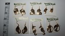 NEW Wild Bryde Earrings Designed From Nature Your Choice Shell Seahorse Cats Dog