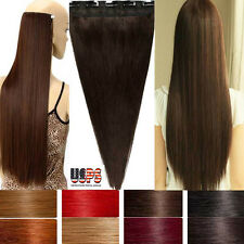 New Arrival Fashion One Piece Clip In Remy Human Hair Extensions US Seller F740