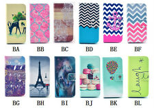 Fashion Pattern Wallet Card Holder PU Leather Flip Case Cover For iPhone 5 5s