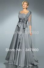 vestido de madrinha lace sexy grey mother of the bride dresses with long sleeve