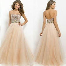 Sequins Long Formal Dress Cocktail Prom Ball Gown Evening Party Bridesmaid Dress