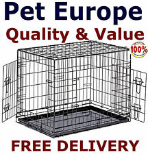 Dog Cages Puppy Small Crate Medium Large Extra Large XXL Crates Metal Tray Inc