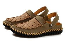 New  Mens Genuine leather Summer Beach Comfortable casual Slippers Sandals shoes