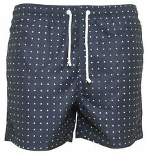 Mens Navy With White Polka Dots Swim Shorts With Mesh Lining