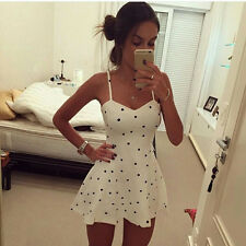 New Women Fashion Polka Dot Casual Slim Party Evening Cocktail Short Mini Dress