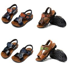 New Children Sandals Summer Shoes New Boys Leather Sandals Baby Beach Sandals