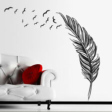 Huge Home Decoration Wall Paper Art viny removable Sticker Feather birds Mural