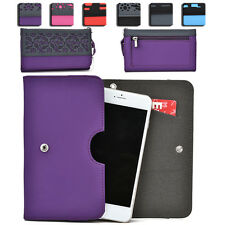 Womens Protective Wallet Case Cover for Smart Cell Phones by KroO ESDC-9 MD