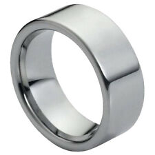 Tungsten Carbide Wedding Band Ring 9MM With Pipe Cut Polished Shiny Size 5-15