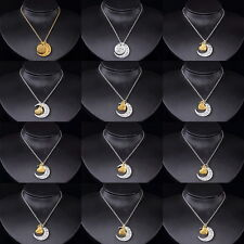 """2015 New Family """"I LOVE YOU TO THE MOON AND BACK"""" Necklace Pendant Gold/Silver F"""
