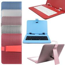 "Leather Micro USB Keyboard Case Stand Cover for 9"" Android Tablet MID 8.9inch"