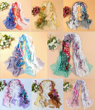 New Style Fashion Women's Lady Chiffon Scarf Soft Wrap Long Shawl Gift 9 colours