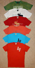 Abercrombie & Fitch Men's Blue Red Green Orange or White Muscle T-Shirt Small S