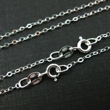 Sterling Silver Necklace Chain 2mm Flat Cable Link (All Sizes) Made in Italy