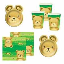 Teddy Bears Picnic Birthday Party Plates Cups Napkins Straws Decorations