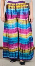 New Tie Dye Flared Cotton Multi-Coloured Pants (Gypsy Hippy/Boho) - FPant B