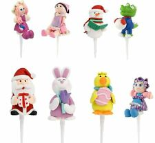 Cake Toppers Decorations Cup Baking Celebrations Birthday Girl Boy Stand Up Cute