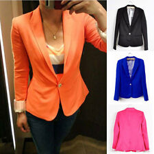 Womens Foldable Long Sleeve Small Suit Slim Fit tasteful Candy Color Jacket