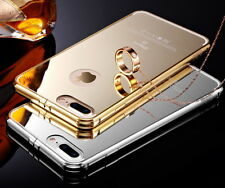 Metal Bumper Mirror / Clear Case Cover Guard Protector Skin for iPhone 6 6S Plus