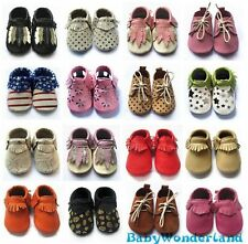 Soft Sole 100% Leather Baby Infant Boys Girls Shoes Prewalkers Size 00,0,1,2