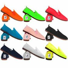 New Ladies Flossy Flossys Javer Style Espadrille Pumps Womens Plimsoll Flat Shoe